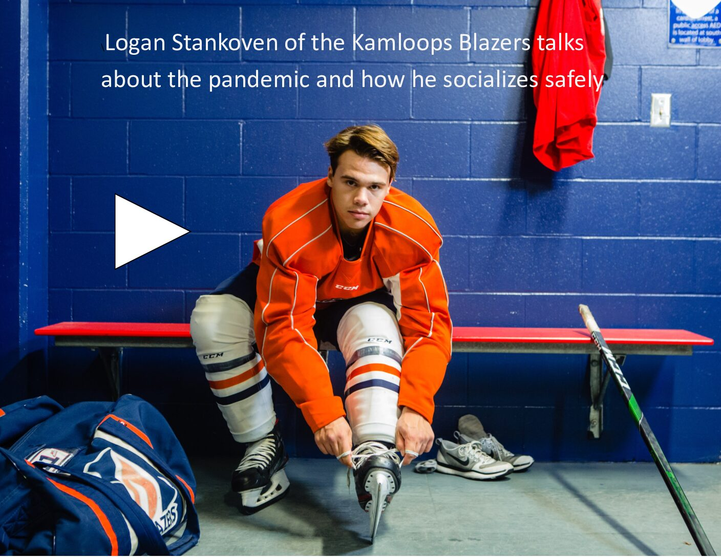 Logan Stankoven of Kamloops Blazers and COVID-19